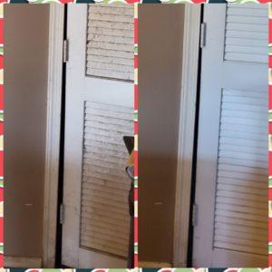Slatted closet door