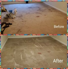 Heavy carpet cleaning